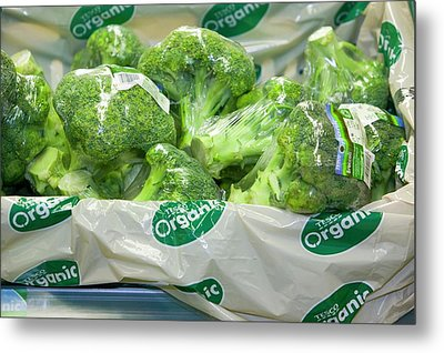 Organic Broccoli For Sale Metal Print by Ashley Cooper