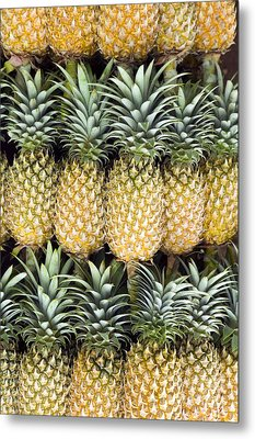 Organic Pineapple  Metal Print by Kevin Miller