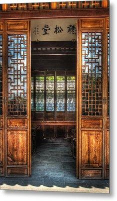Orient - Door - The Temple Doors Metal Print by Mike Savad