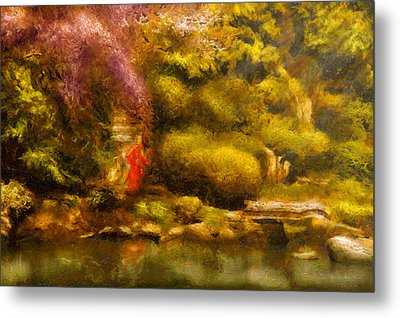 Orient - The Japanese Garden Metal Print by Mike Savad