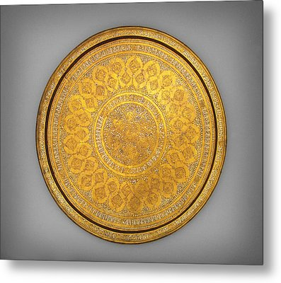 Oriental Tray Metal Print by Celestial Images