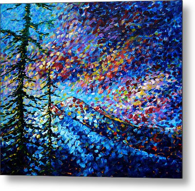 Original Abstract Impressionist Landscape Contemporary Art By Madart Mountain Glory Metal Print by Megan Duncanson