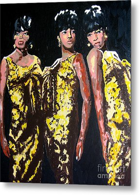 Original Divas The Supremes Metal Print by Ronald Young