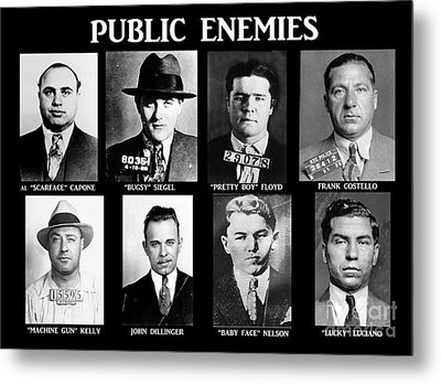 Original Gangsters - Public Enemies Metal Print by Paul Ward