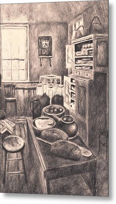 Original Old Fashioned Kitchen Metal Print by Kendall Kessler