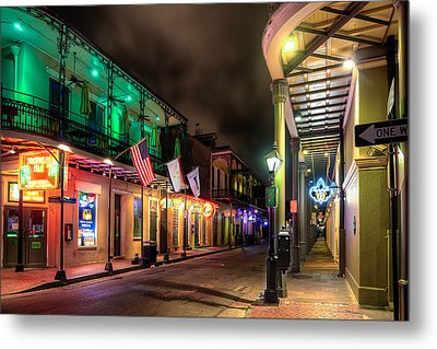 Orleans And Bourbon Metal Print by Tim Stanley