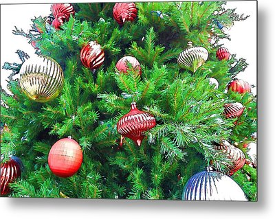 Ornaments So Bright Metal Print by Audreen Gieger-Hawkins