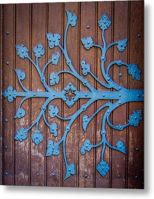Ornate Church Door Hinge Metal Print by Mr Doomits