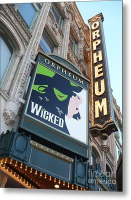 Orpheum Sign Metal Print by Carol Groenen