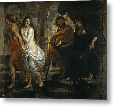 Orpheus And Eurydice Metal Print by Peter Paul Rubens and Workshop