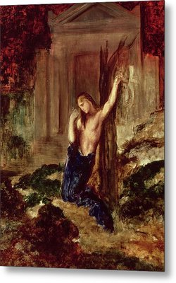 Orpheus At The Tomb Of Eurydice Metal Print by Gustave Moreau