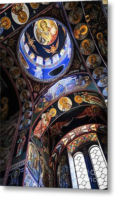 Orthodox Church Interior Metal Print by Elena Elisseeva
