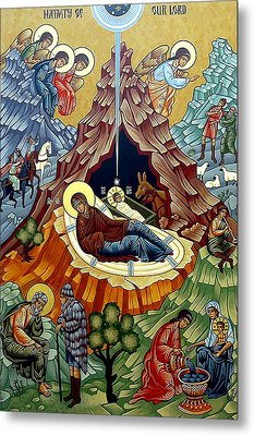 Orthodox Nativity Of Christ Metal Print by Munir Alawi