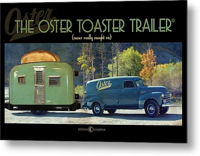 Oster Toaster Trailer Metal Print by Tim Nyberg