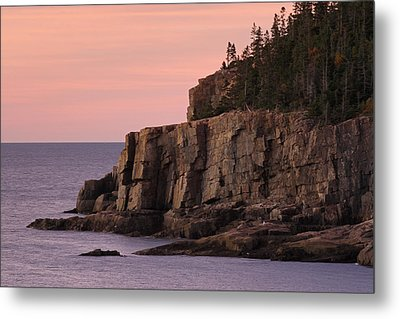 Otter Cliff At Dawn Metal Print by Juergen Roth