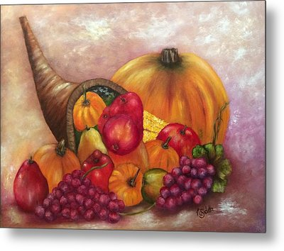 Our Abundance Metal Print by Annamarie Sidella-Felts