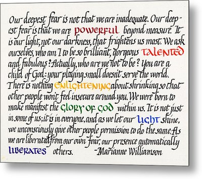 Our Deepest Fear Metal Print by Sondra Venable