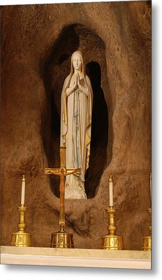Our Lady Of Lourdes Metal Print by Philip Ralley