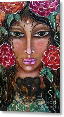 Our Lady Of The Lion Heart Metal Print by Maya Telford