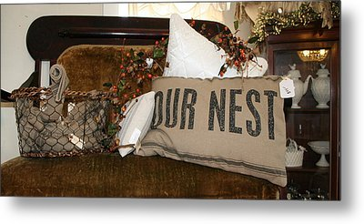 Our Nest Metal Print by Rebecca Smith
