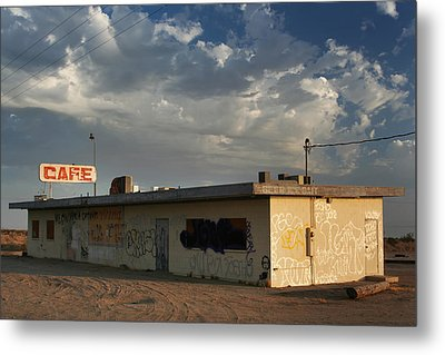 Our Old Cafe Metal Print by Laurie Search