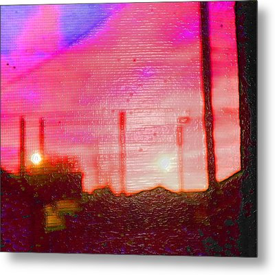 Out My Back Window 6 Am V3 Metal Print by Lenore Senior