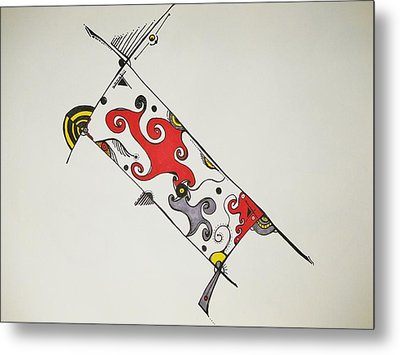 Out Of The Box Metal Print by Lori Thompson