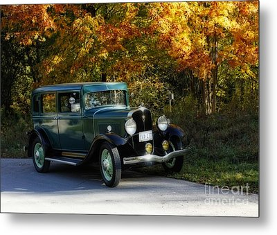 Out Of The Darkness Into The Light 1932 Frontenac Metal Print by Inspired Nature Photography Fine Art Photography