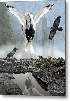 Out Of The Mist Metal Print by Judy Wood