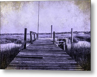 Out On The Pier  Metal Print by Steven  Taylor