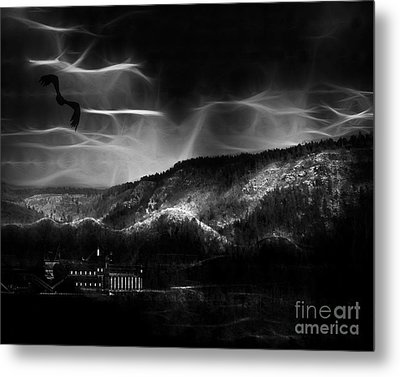 Out World Mining Metal Print by Arne Hansen