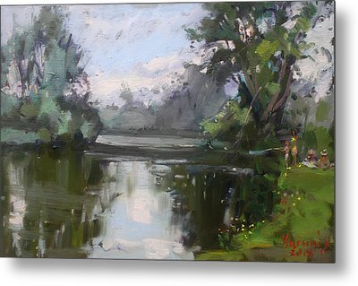 Outdoors At Hyde Park Metal Print by Ylli Haruni