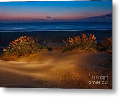 Outer Banks - Before Sunrise On Pea Island I Metal Print by Dan Carmichael