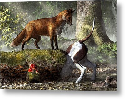 Outfoxed Metal Print by Daniel Eskridge