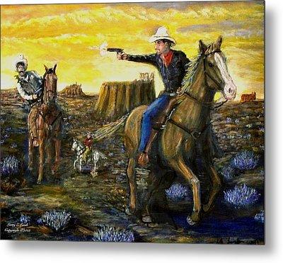 Outlaw Trail Metal Print by Larry E Lamb