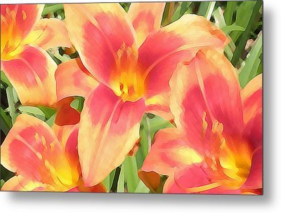 Outrageous Lilies Metal Print by Jean Hall
