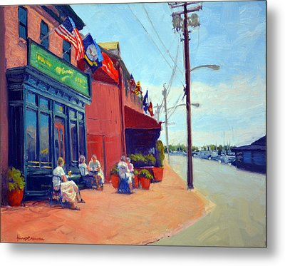 Outside Mcgarvey's Metal Print by Armand Cabrera
