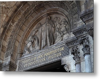 Outside The Basilica Of The Sacred Heart Of Paris - Sacre Coeur - Paris France - 011312 Metal Print by DC Photographer