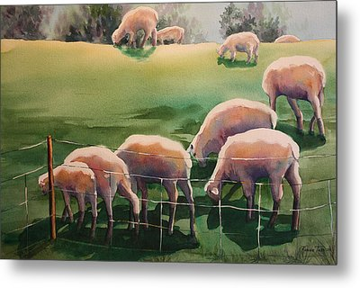 Over The Hill Metal Print by Roxanne Tobaison