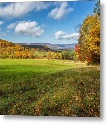 Over The Hills Square Metal Print by Bill Wakeley