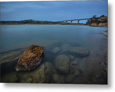 Over Water At Wilson Metal Print by Thomas Zimmerman