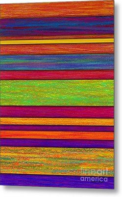 Overlay Stripes Metal Print by David K Small