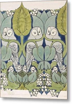 Owls, 1913 Metal Print by Charles Francis Annesley Voysey