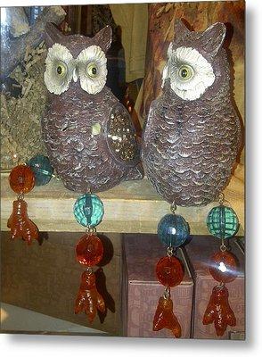 Owls Metal Print by Barbara Yodice