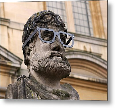 Oxford Geek Metal Print by Rona Black