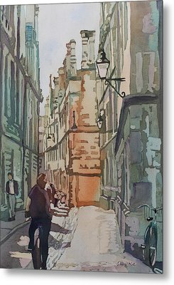 Oxford Lane Metal Print by Jenny Armitage