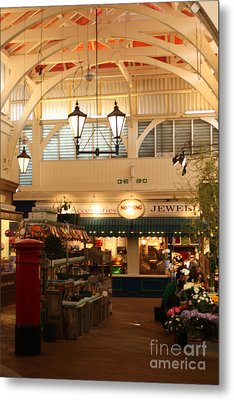 Oxford's Covered Market Metal Print by Terri Waters