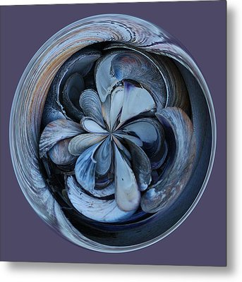 Oyster Shell Orb Metal Print by Paulette Thomas