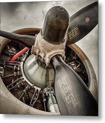 P-17 Prop Metal Print by Mike Burgquist