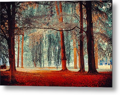 Alien Forest. Nature In Alien Skin Metal Print by Jenny Rainbow